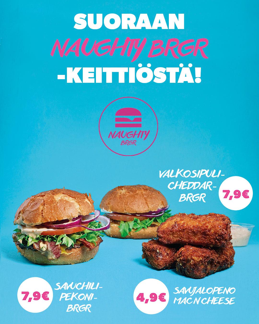 Naughty Brgr Helsinki Menu
